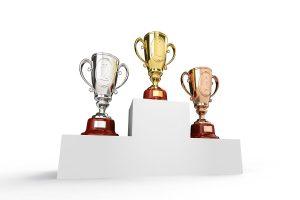podium gold silver bronze